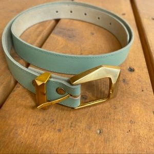 Vintage mint and gold belt